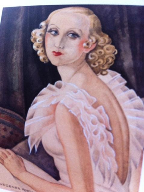 Udsnit af Gerda Wegeners portræt af Maggie Baaring. 1934. Foto: US.