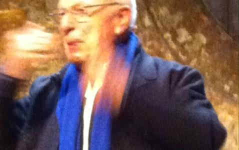 Den britiske teatermand Peter Brook modtog hæder i København.
