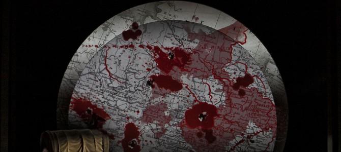 """""""Jægerbruden"""" som krigsspil."""