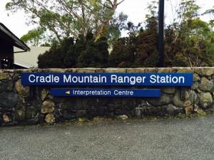 Cradle Mountain skilt