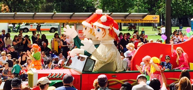 Down Under. Christmas Pageant i Adelaide.
