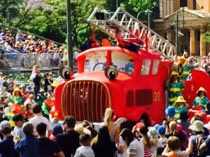 Juleparade Adelaide rød brandbil