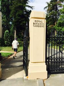 Melbourne botanisk have indgang