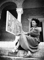 Peggy Guggenheim med billede