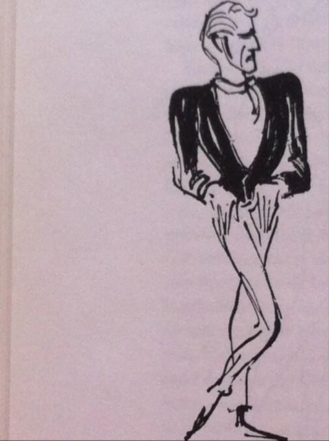 Erik Bruhn - for mange år siden. Tegning af Erik Werner.