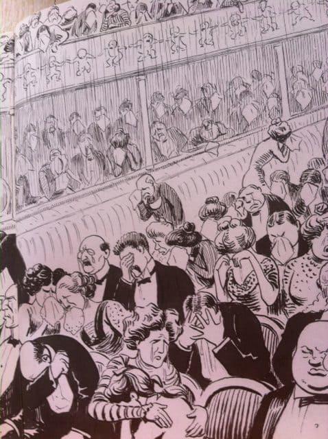 Publikum omkring 1900. Teatermuseet i Hofteatret.