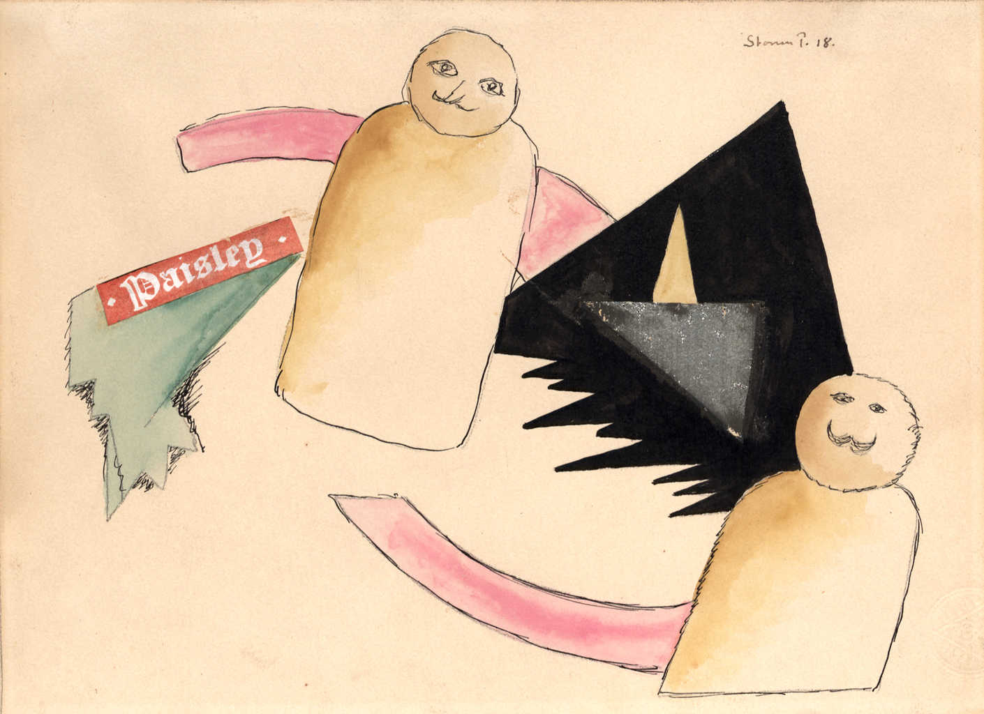 Storm P. lidt a la Kandinsky og Klee.