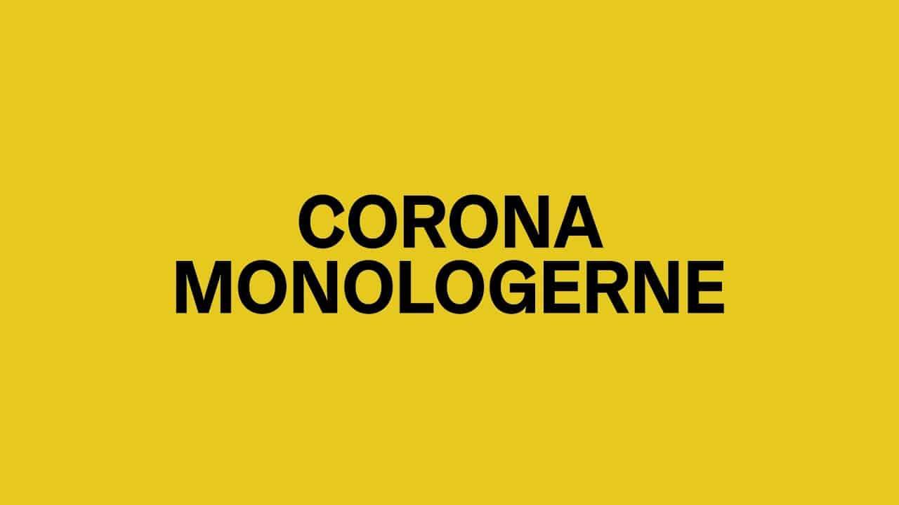 Corona-monologerne og andre aktiviteter på de danske teatre.